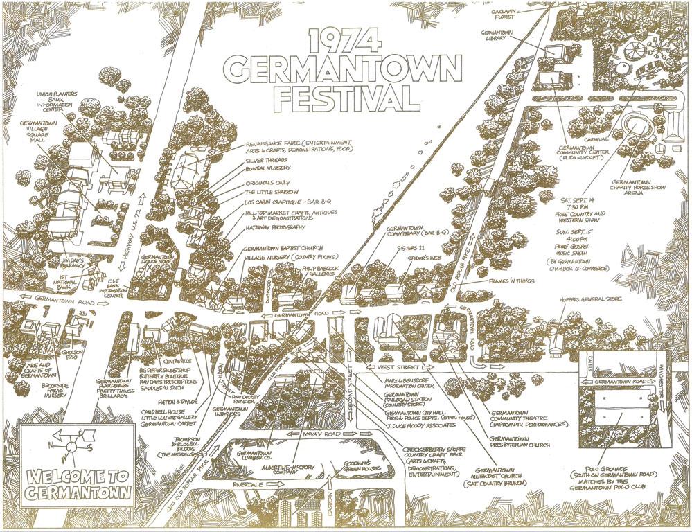 Original Location(s) of Germantown Festival